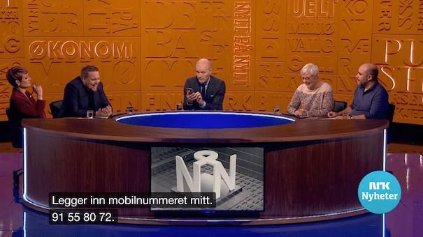 Bilde av deltagerne i tv-serien Nytt på Nytt.